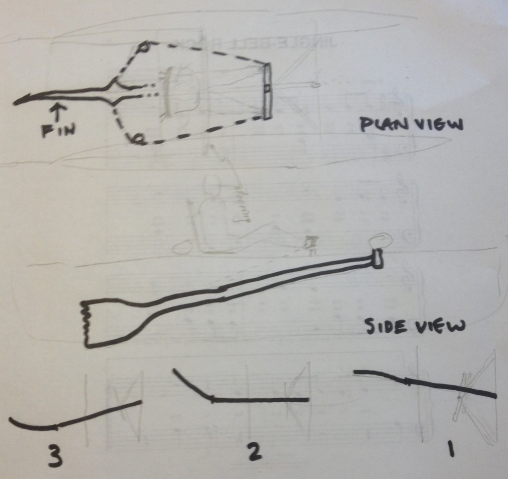 A pencil/pen sketch of a novel way of propelling our catamaran in the R2AK.